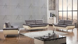 American Eagle AE2365 Gray/Yellow Sofa Loveseat and Chair Set Fabric 3Pcs - $1,773.16