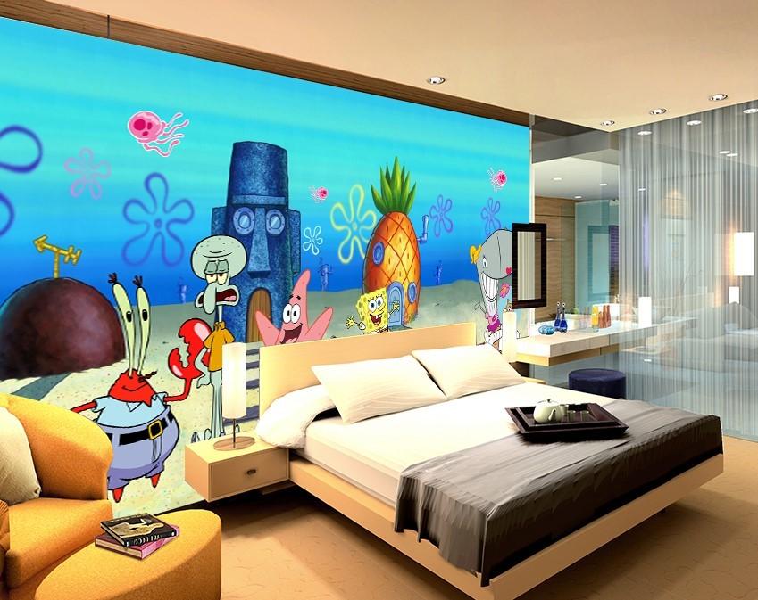 3D Spongebob Cartoon Characters Wall Mural and 50 similar items