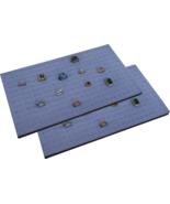 """2 Piece 144 Jewelry Grey  Insert Display Pads  14 3/4"""" x 7 3/4"""" x 1/2"""" - $14.95"""