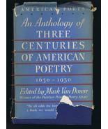 VINTAGE 1932 Three Century of American Poetry Hardcover Book Mark Van Doren - $29.69