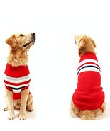 NACOCO Dog Sweater Pet Winter Sweaters Striped Holiday for Large Dog (Re... - $14.84