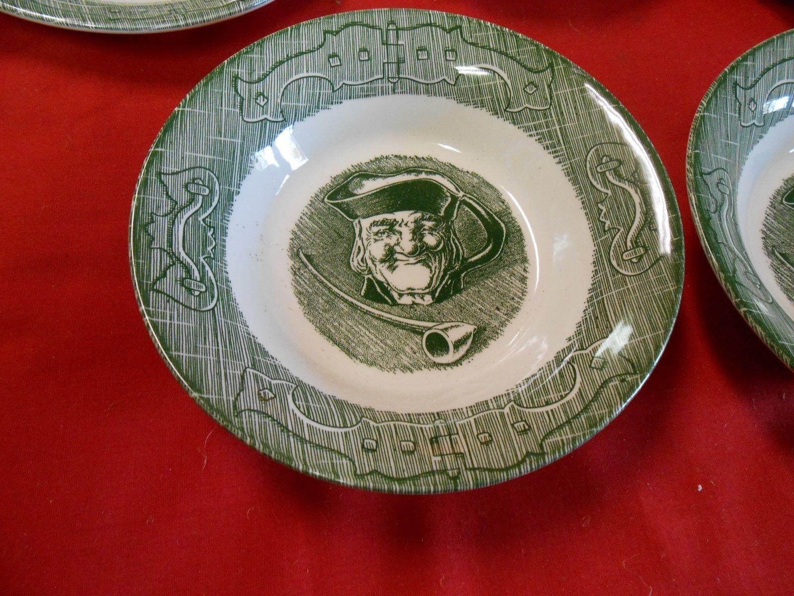 """7 VINTAGE ROYAL CHINA /""""THE OLD CURIOSITY SHOP/"""" Fruit Bowls"""