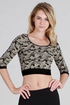 Beige Camo Crop Top fo the Sporty Hunter One Size - $19.55