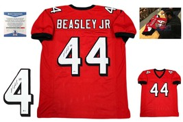 Vic Beasley Autographed SIGNED Custom Jersey - Beckett Authenticated w/ Photo RD - $128.69