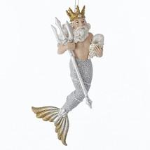 Neptune Sea King Merman Christmas Ornament - $28.40