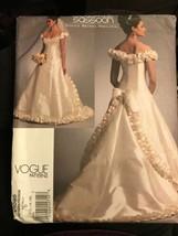 Vogue V1095 Bellville Sassoon Bridal Original Wedding Dress 12-16 Uncut Pattern - $26.43