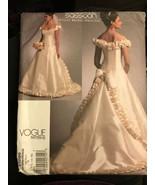 Vogue V1095 Bellville Sassoon Bridal Original Wedding Dress 12-16 Uncut ... - $26.43