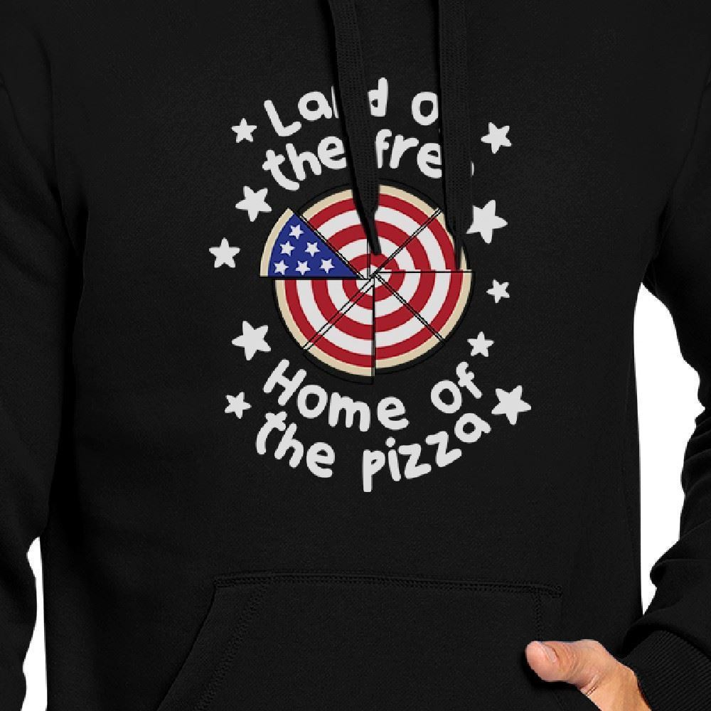 Home Of The Pizza Unisex Black Graphic Hoodie Gift For Pizza Lovers