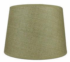 Urbanest French Drum Lampshade, Woven Grass, Spider washer fitter,10x12x8.5 - $34.99