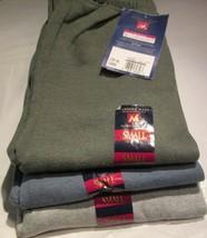 Women Sweatpants Members Mark Small 3 Pair 3 Color T Green H Blue Gray 2... - $20.81