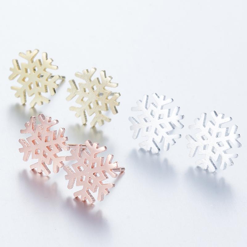 Ethnic Snowflake Stud Earrings Ice Flower Earnings