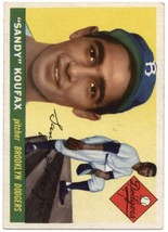 1955 Topps #123 Sandy Koufax RC - Dodgers EX/NM (RC - Rookie Card) - $1,450.00