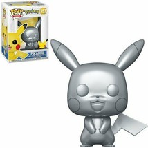 NEW SEALED 2021 Funko Pop Figure Pokemon Metallic Pikachu - $19.79