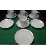 """Beautiful NORITAKE """"Pilgrim"""" ...Set of 4 CUPS & SAUCERS & 3 FREE Saucers - $18.40"""