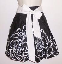 Juniors Skirt 9 10 L Black White Pleated Floral Fit & Flare Crinoline NE... - $9.99