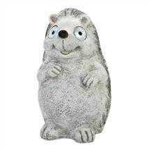 Distressed White Hedgehog Solar Statue - $28.44