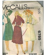 6785 Vintage McCalls Sewing Pattern Misses Pullover Dress Vest Small Wai... - $6.92
