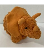Manhattan Toy Orange Triceratops Dinosaur Plush small beanbag textured 2016 - $3.95