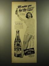 1950 RC Royal Crown Cola Advertisement - Mona Freeman - $14.99