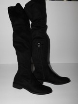 NWOB Simply Vera Vera Wang Black Faux Suede Over The Knee Boots Size 6 - $52.00