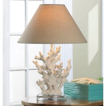 Ivory Coral Table Lamp with Fabric Shade - $79.00