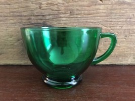 Anchor Hocking Glass Corp Forest Green Punch Cu... - $9.99