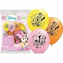 12 Baby Minnie Mouse 1st First Birthday Favor Balloons Party Supplies Decoration - $10.39