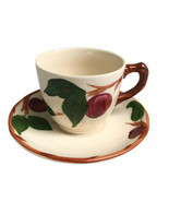 """Franciscan Apple Pattern Cup & Saucer Set Dinnerware Made In England 2-3/4"""" Tall - $9.47"""