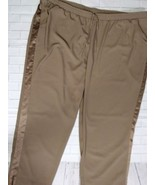 NEW LANE BRYANT PULL-ON PANTS WITH SATIN TUXEDO PANTS STRIPE TAUPE 26-28 3X - $24.99