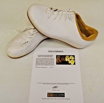 Converse Sample 3hree White Leather 14 DWAYNE WADE Personal Owned Shoes COA #12 - $346.49
