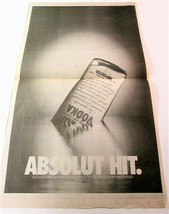 ABSOLUT HIT USA Today (March 24, 1998) Full-Page Newspaper Ad - $9.99