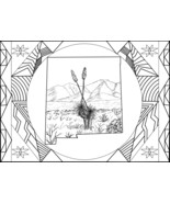 New Mexico Organ Mountains Coloring Page   - $1.50