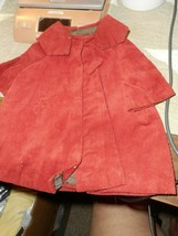 "DOLL CLOTHES/HANDMADE CORDEROY COTTON COAT=COLLAR/BROWN RUST/9 3/4"" X 8"" - $6.79"