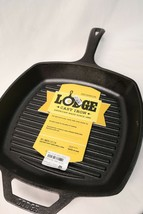 Lodge Pre Seasoned 10.5 Inch Square Cast Iron Grill Pan - $26.72