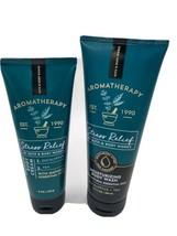 Bath & Body Works Aromatherapy STRESS RELIEF Eucalyptus + Tea Body Wash / Cream - $22.99