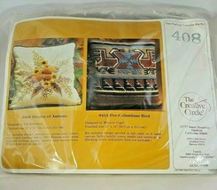 The Creative Circle #408 Shades of Autumn Pillow Kit Crewel Embroidery - $18.69