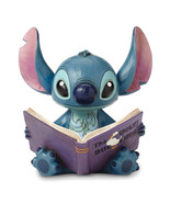 Non Metal Disney Traditions Stitch With Story Book Figurine (Length=5.6)... - $48.71