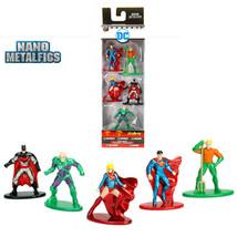 New Nano Metal (5) Figures Superman,Supergirl,Batman,Aquaman,Lex Luthor ... - $9.49
