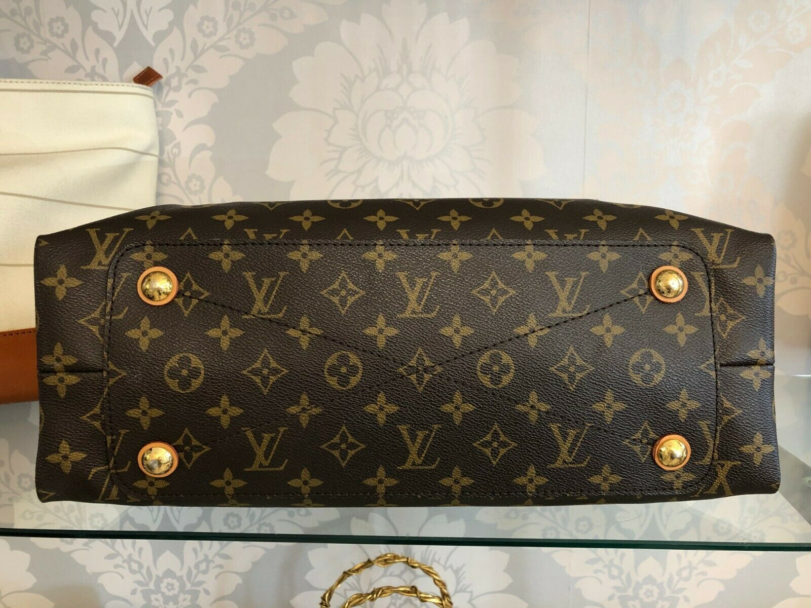 "LOUIS VUITTON ""Olympe MM"" Monogram Canvas & Leather Shoulder Bag w/Buckle $3400 image 9"