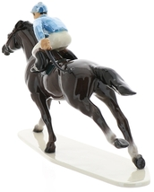 Hagen-Renaker Specialties Large Ceramic Figurine Race Horse with Jockey image 5