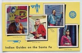 Native American Indian Guides Santa Fe Railroad New Mexico postcard - $6.44