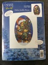 Candamar Cross Stitch Christmas Card Kit Chickadee Teddy Bear 5166 Debra... - $8.54