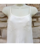 Valerie Stevens Babydoll Nightie Ivory Women's L Chiffon Satin Silver Em... - $24.99