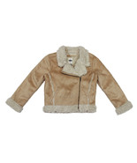NWT Old Navy Toddler Girl MOTO Faux-Shearling Suede Sherpa Jacket Coat X... - $39.99