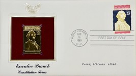 1989 PCS Executive Branch Constitution First Day Issue & 22kt Gold Replica - $14.99