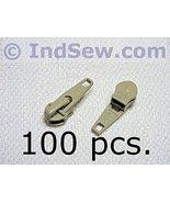 100 pcs Pack #4.5 (45CF) YKK Zipper Sliders Auto Locking, Short Tab, Bei... - $17.95
