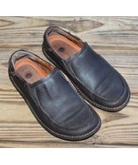 Clarks Size 9 M Structured Shoes Brown Leather Upper Slip On Comfort Men's  - $23.74