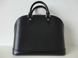Nwt Authentic Louis Vuitton Black Epi Leather Alma Nm M40302 Handbag Bag Tote - $1,939.99