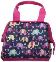 New Fit & Fresh Insulated Elephant Lunch Box Pink & Blue image 2