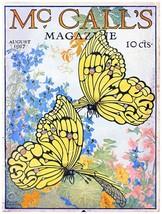 9468.McCall's Magazine.two yellow butterflies..POSTER.decor Home Office art - $10.89+